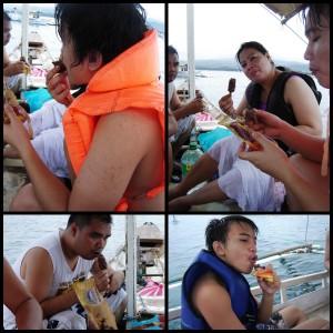 Ice cream on the boat