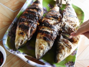 Inihaw na bangus (Grilled milkfish)
