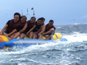 First time to do banana boat!