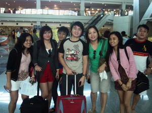 The Binuya Family before baggage check in