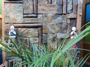 Lolo and Lola outside the restrooms :)